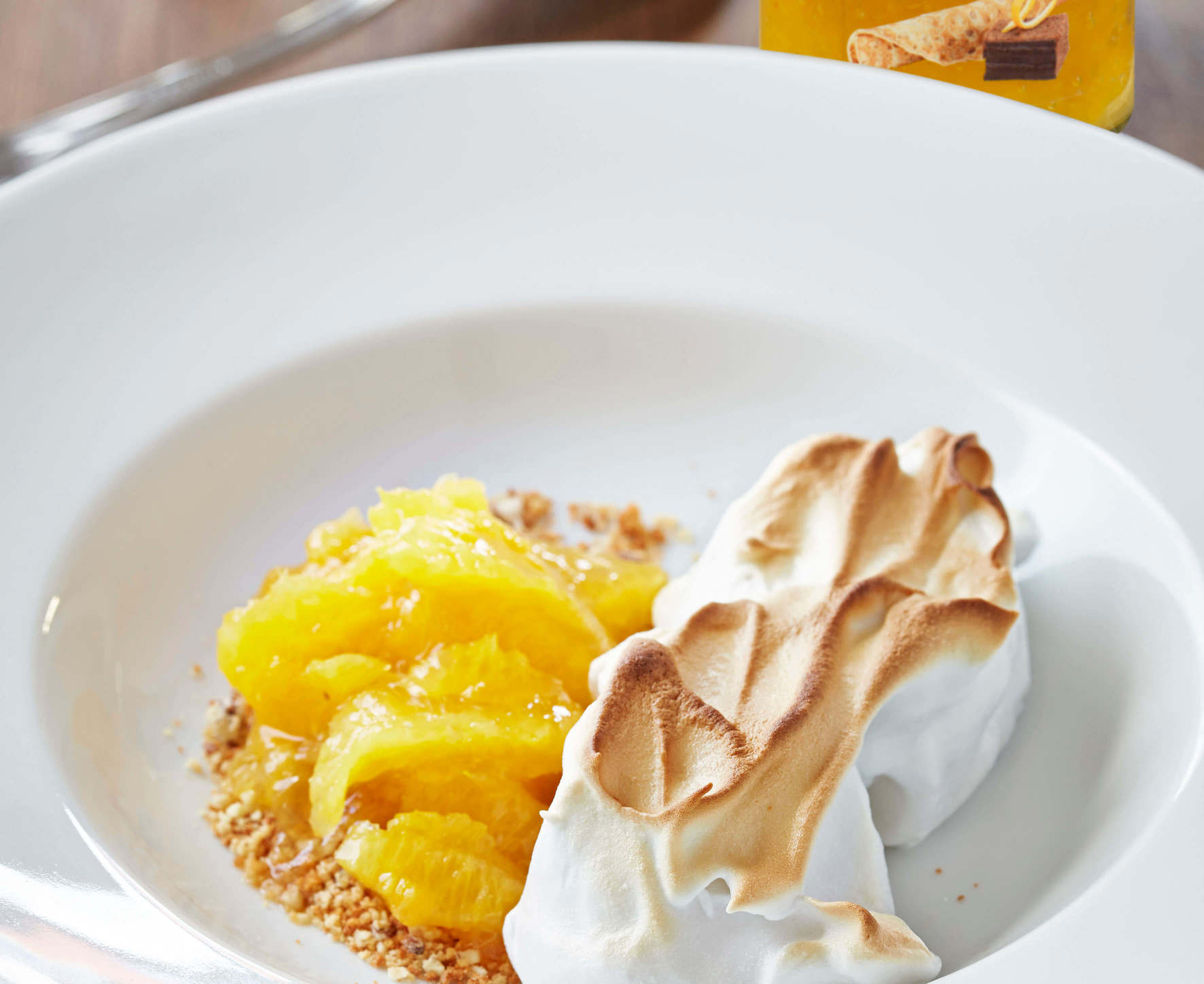 Orange Fruit Salad with Meringue
